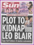 Front cover of the Sun dated 18th January 2006.