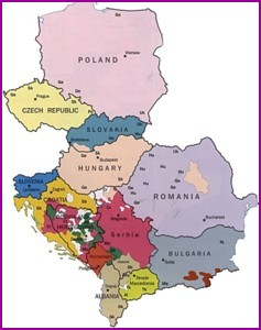A map of Eastern Europe
